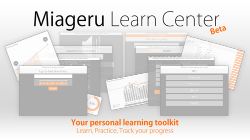 Miageru Learn Center, Your personal learning toolkit. Learn, Practice and Track your progress